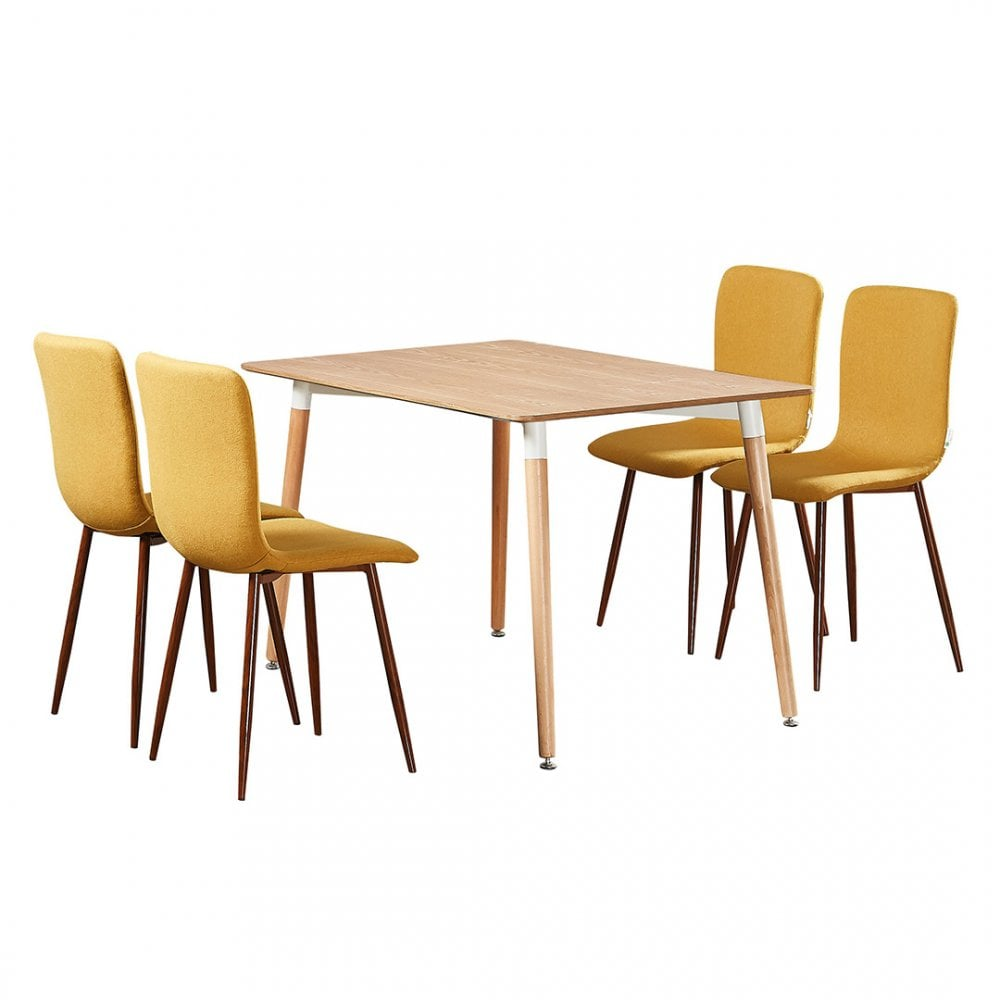 Marco Halo Dining Table Set With 4 Chairs Pn Home